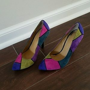 Multi-Colored Suede Nine West Heels
